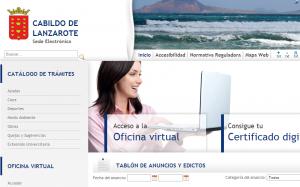 Sede Electrónica Cabildo Lanzarote